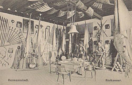 Nagyszeben:múzeumi fegyver kiállitás.1912
