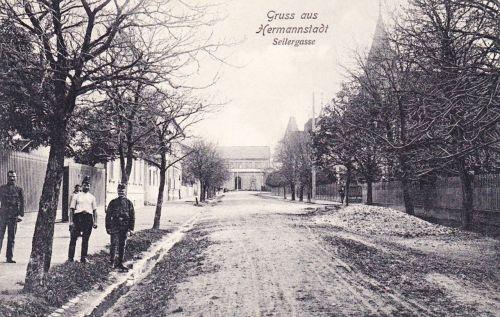 Nagyszeben:Kötélverő utca,Seiler gasse.1915