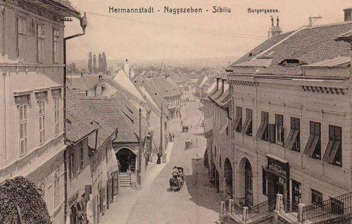 Nagyszeben:Polgár utca,Bürger gasse.1912