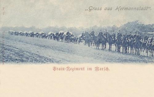 Nagyszeben:katonai hadosztály menetelése.1900