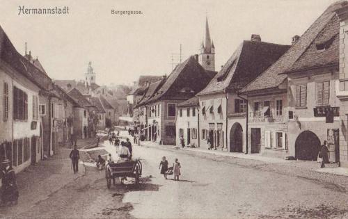 Nagyszeben:Bürgergasse,Polgár utca.1907