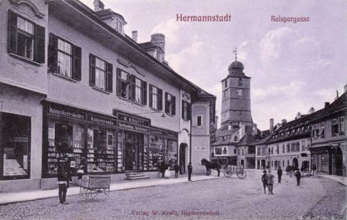 Nagyszeben:könyvkereskedés,könyvnyomda.1914