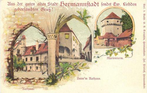 Nagyszeben, városháza 1902