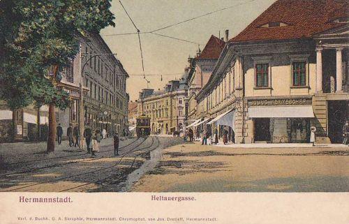 Nagyszeben:utca részlet.1904