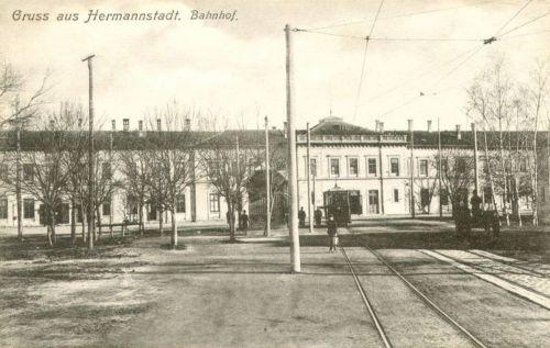Nagyszeben:pályaudvar.1914