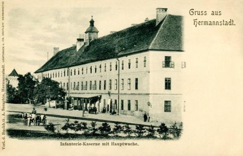 Nagyzszeben:Gyalogsági laktanya főörségi épülete.1902