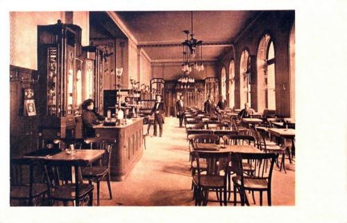Nagyszeben,Római Császár kávézó.1912