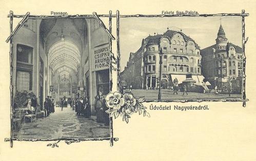 Nagyvárad:Fekete Sas palota.1900