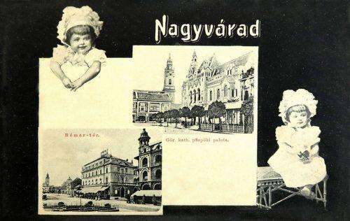 Nagyvárad:Bémer tér és görög katolikus püspöki palota.1908