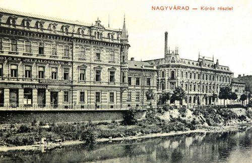Nagyvárad:Körös részlet,Jelzálog Bank és Biztositó Szövetkezet.1911