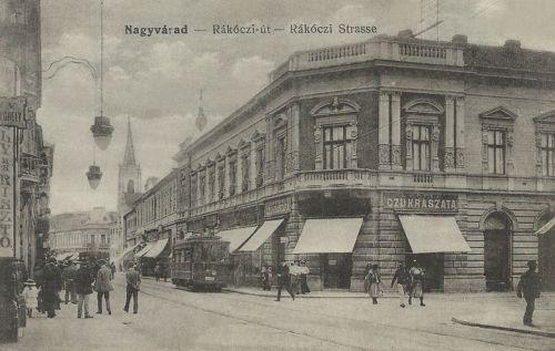 Nagyvárad:RÁkóczi út,cukrászda.1915