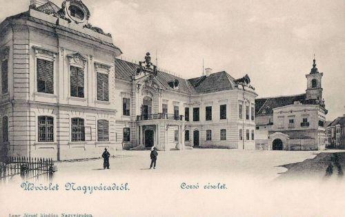 Nagyvárad:Korzó részlet,tévesen a veszprémi püspöki palota fényképével.1899