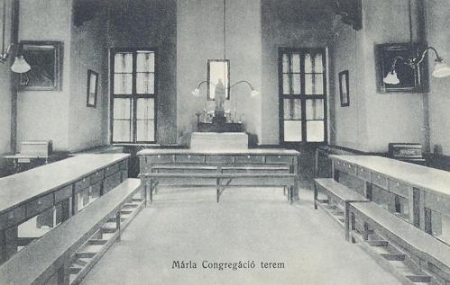 Nagyvárad:leánynövendékek Mária kongregáció terme.1914