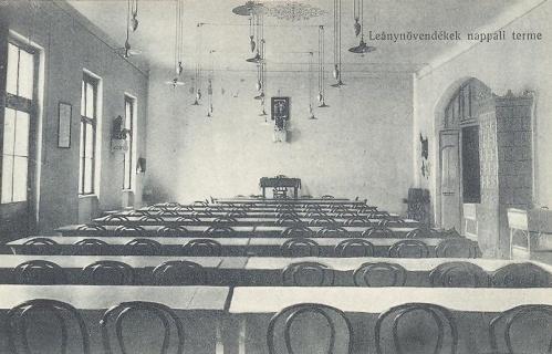 Nagyvárad:leánynövendékek nappali terme.1914