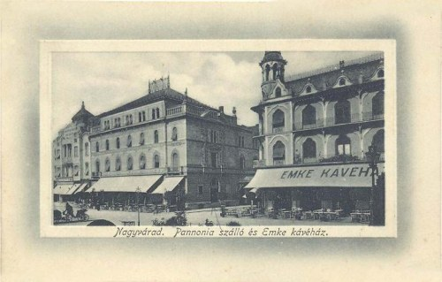 Nagyvárad:Pannónia szálló és EMKE kávéház.1912