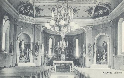 Nagyvárad:leánynövendékek kápolna belseje.1914
