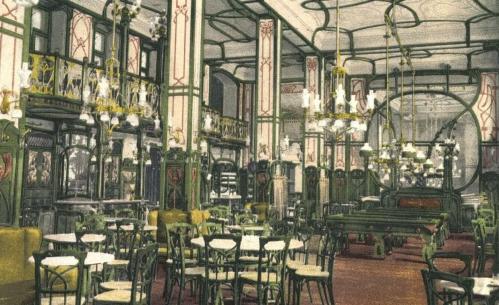 Nagyvárad:EMKE kávéház belseje,1905.