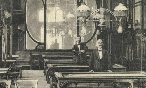 Nagyvárad:EMKE kávéház belseje,1915-ben.