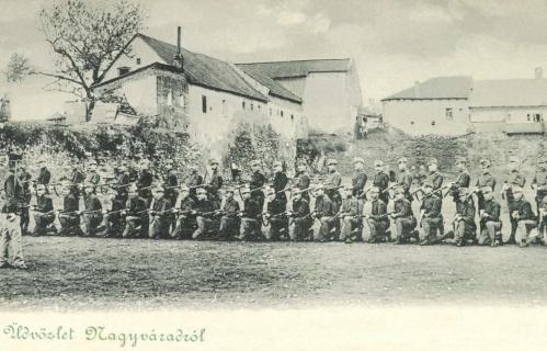 Nagyvárad:honvédek lőgyakorlaton a várban,1899.