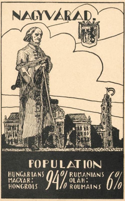 Nagyvárad:lakosság összetétele,1918.