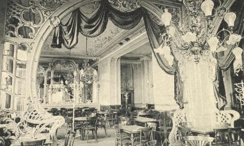 Nagyvárad:Royal kávézó belseje,1903.