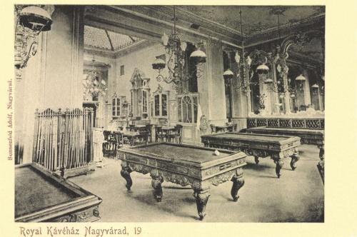 Nagyvárad:Royal kávéház billiárd terme,1903.