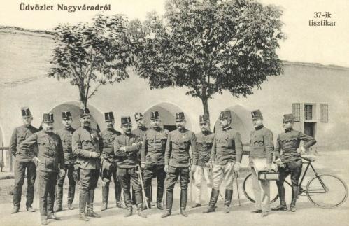 Nagyvárad: 37. császári és királyi közös gyalogezred tisztikara,1907