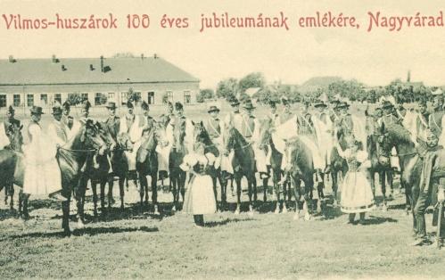 1798-ban létesitett Vilmos huszárezred jubileumi ünnepsége,1898-ban.