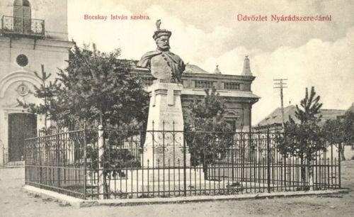 Nyárádszereda:Bocskai István Erdélyi fejedelem szobra.1908