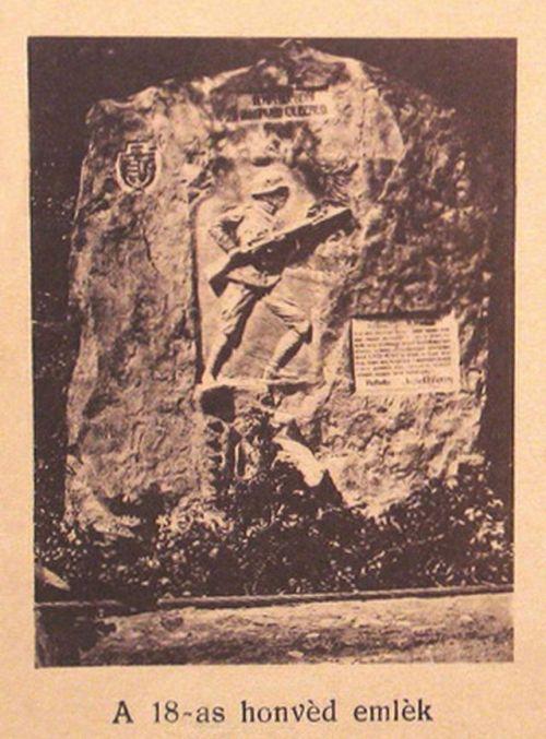Ojtoz:18-as honvéd gyalogezred hősi emlékműve.1917