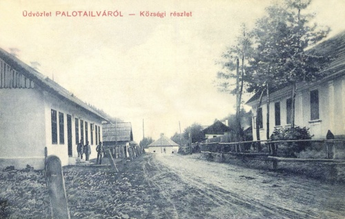 Palotailva:községi részlet a főutcával,1911.