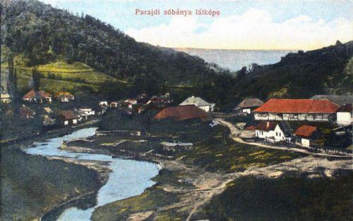 Parajd:Sóbánya látképe.1913