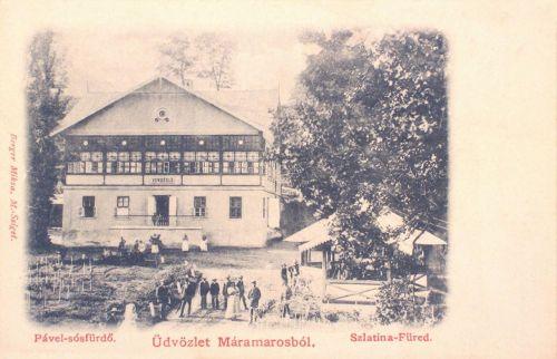 Szlatina-füred:Pável sós-fürdő 1900