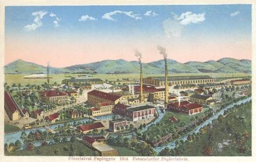 Péterfalva:papirgyár.1914