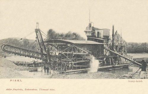 Piski:arany kotró hajó.1901