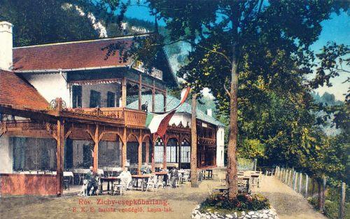 Rév:Zichy csepkőbarlang,Erdélyi Kárpát Egyesület turista vendéglője .1913