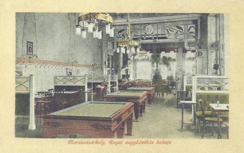 Széchenyi-tér,szecessziós Royal kávéház belseje,1912-ben.