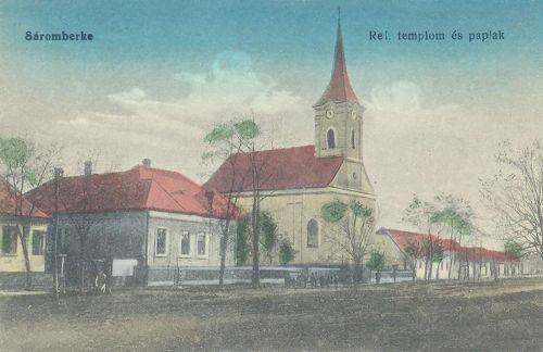 Sáromberke,református templom 1916