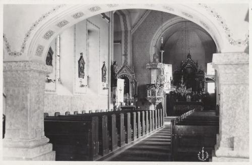 Borszékfürdő:katolikus templom belseje.1938