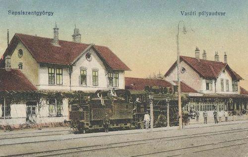 Sepsiszentgyörgy:vasúti pályaudvar.1916