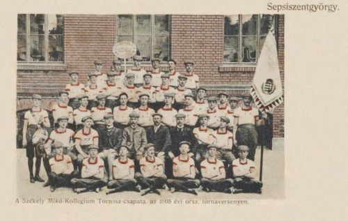 Sepsiszentgyörgy:Székely Mikó Kollégium tornász csapata.1905
