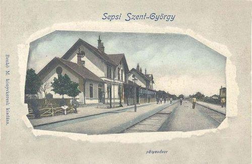 Sepsiszentgyörgy,vasútállomás 1903