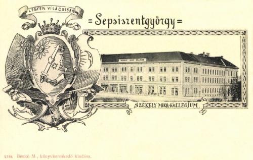Sepsiszentgyörgy:Székely Mikó Kollégium:LEGYEN VILÁGOSSÁG,1899.
