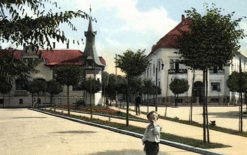 Bethlen Gábor sétány a Trébely fele,balra a Kárnász ház,1913.