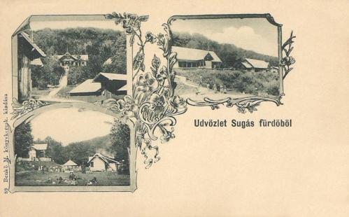 Sugás fürdő:villák.1906