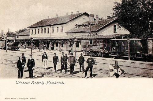 Székelykocsárd:vasútállomás.1904