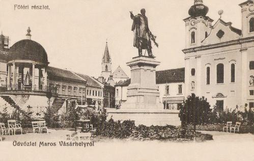Marosvásárhely:Bodor Péter székely ezermester zenélő kútja 1904-ben.