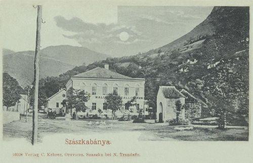 Szászkabánya:szálloda a főtéren.1900