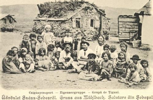 Szászsebes:cigány csoport,1902.