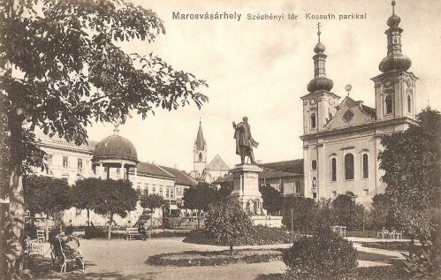 Bodor Péter zenélő kút,Kossuth szobor,katolikus templom,1911.